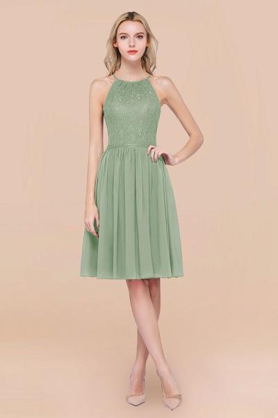 A-line Chiffon Lace Jewel Sleeveless Knee-Length Bridesmaid Dresses with Ruffles_41