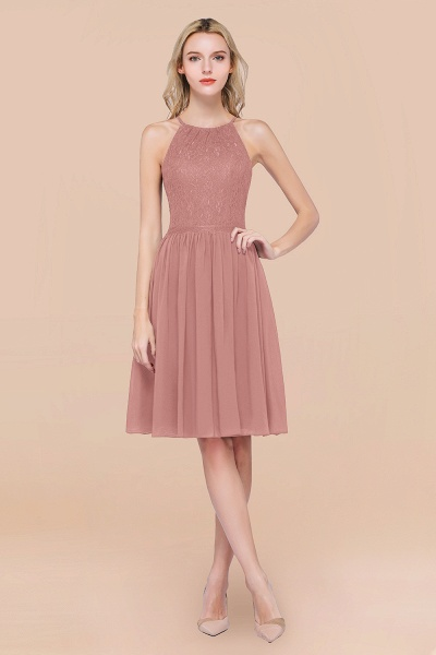 A-line Chiffon Lace Jewel Sleeveless Knee-Length Bridesmaid Dresses with Ruffles_50