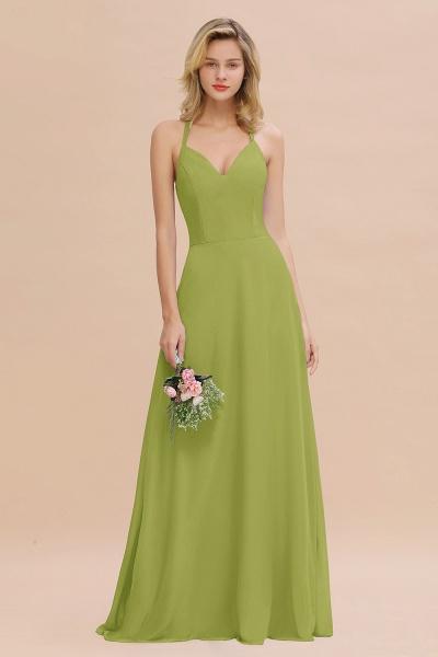 BM0779 Stylish Chiffon Spaghetti Straps Sleeveless Long Bridesmaid Dress_34