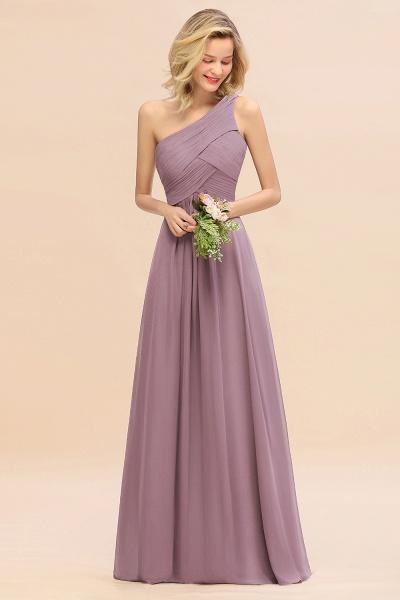 BM0756 Elegant Ruffles One Shoulder Long Bridesmaid Dress_43