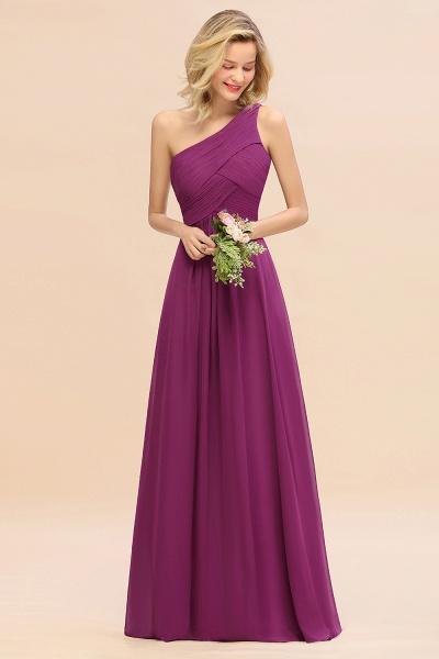 BM0756 Elegant Ruffles One Shoulder Long Bridesmaid Dress_42