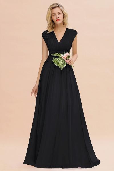 BM0774 Chiffon V-Neck Sleeveless Elegant A-line Ruffles Bridesmaid Dress_29