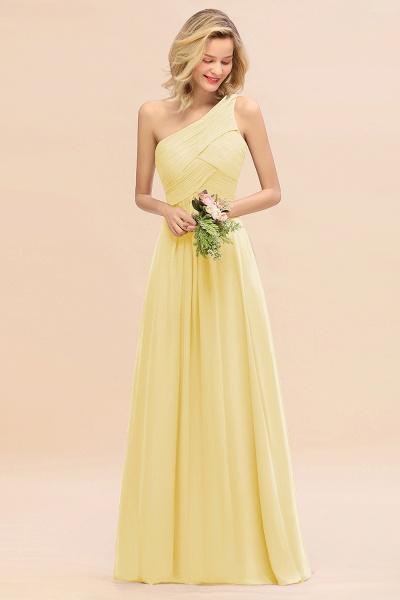 BM0756 Elegant Ruffles One Shoulder Long Bridesmaid Dress_18