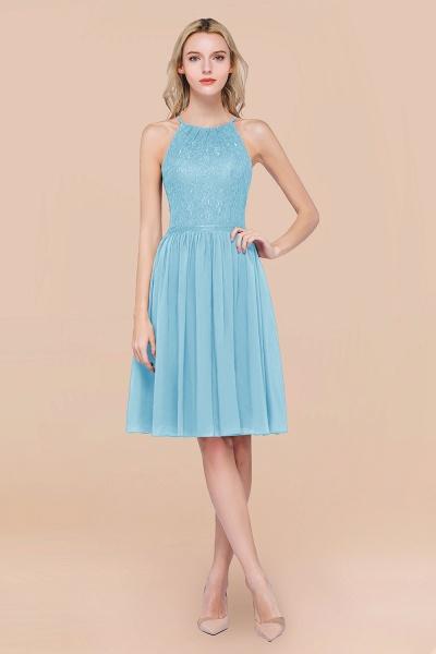 A-line Chiffon Lace Jewel Sleeveless Knee-Length Bridesmaid Dresses with Ruffles_23