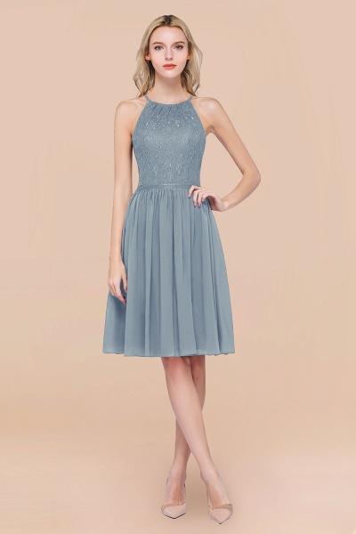 A-line Chiffon Lace Jewel Sleeveless Knee-Length Bridesmaid Dresses with Ruffles_40