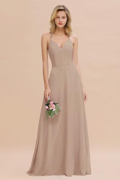 BM0779 Stylish Chiffon Spaghetti Straps Sleeveless Long Bridesmaid Dress_16