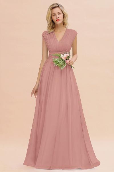BM0774 Chiffon V-Neck Sleeveless Elegant A-line Ruffles Bridesmaid Dress_50
