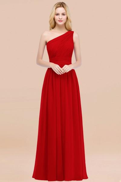 Elegant A-Line Chiffon One-Shoulder Sleeveless Ruffles Floor-Length Bridesmaid Dresses_8