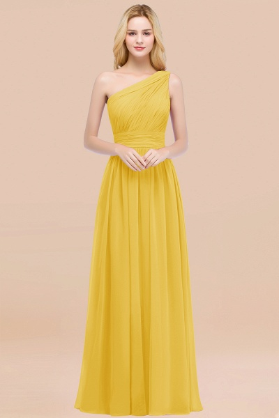 Elegant A-Line Chiffon One-Shoulder Sleeveless Ruffles Floor-Length Bridesmaid Dresses_17