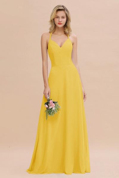 BM0779 Stylish Chiffon Spaghetti Straps Sleeveless Long Bridesmaid Dress_17