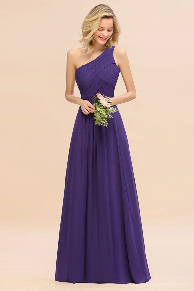 BM0756 Elegant Ruffles One Shoulder Long Bridesmaid Dress_19