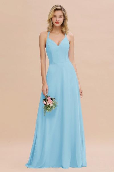 BM0779 Stylish Chiffon Spaghetti Straps Sleeveless Long Bridesmaid Dress_23