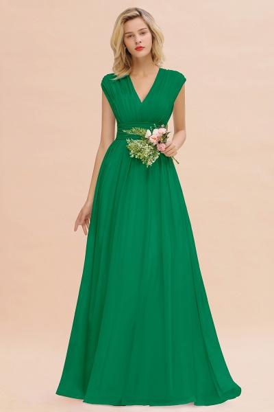 BM0774 Chiffon V-Neck Sleeveless Elegant A-line Ruffles Bridesmaid Dress_49
