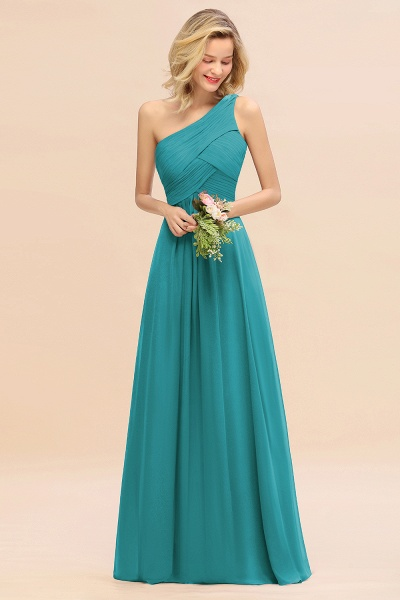 BM0756 Elegant Ruffles One Shoulder Long Bridesmaid Dress_32