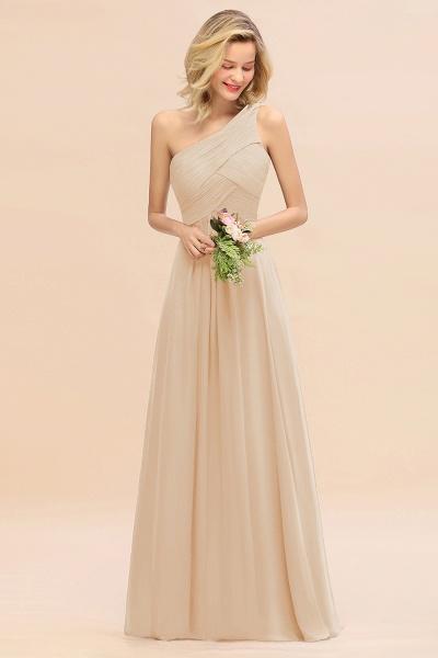 BM0756 Elegant Ruffles One Shoulder Long Bridesmaid Dress_14