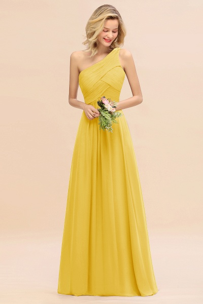 BM0756 Elegant Ruffles One Shoulder Long Bridesmaid Dress_17