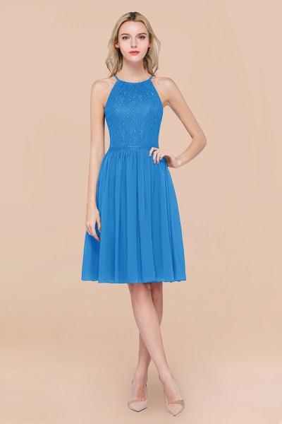 A-line Chiffon Lace Jewel Sleeveless Knee-Length Bridesmaid Dresses with Ruffles_25