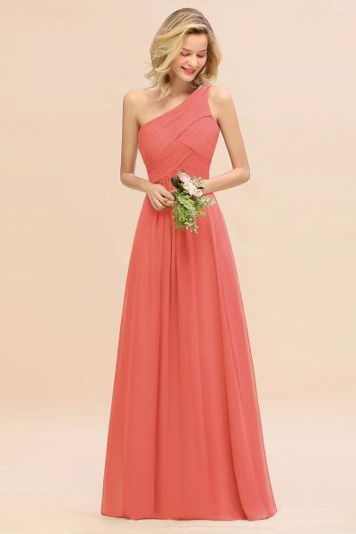 BM0756 Elegant Ruffles One Shoulder Long Bridesmaid Dress_7