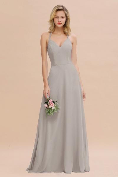 BM0779 Stylish Chiffon Spaghetti Straps Sleeveless Long Bridesmaid Dress_30