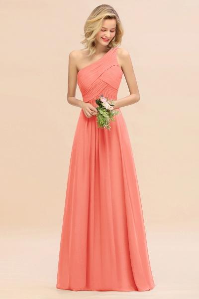 BM0756 Elegant Ruffles One Shoulder Long Bridesmaid Dress_45