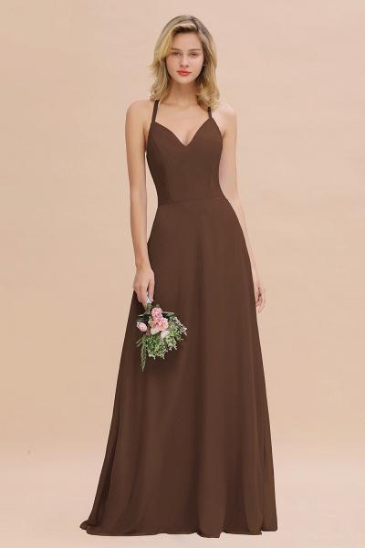BM0779 Stylish Chiffon Spaghetti Straps Sleeveless Long Bridesmaid Dress_12