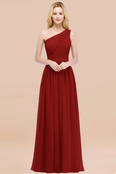 Elegant A-Line Chiffon One-Shoulder Sleeveless Ruffles Floor-Length Bridesmaid Dresses_48