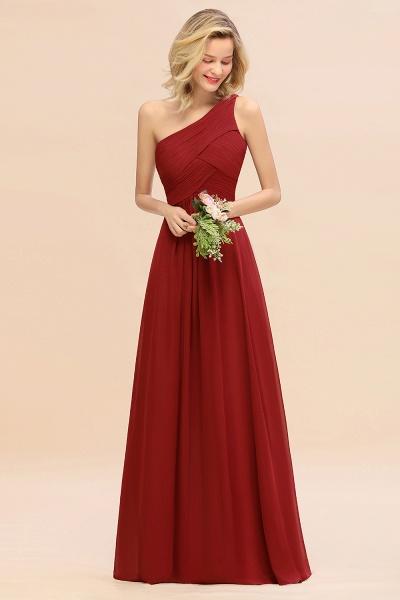 BM0756 Elegant Ruffles One Shoulder Long Bridesmaid Dress_48