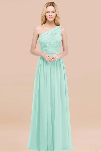 Elegant A-Line Chiffon One-Shoulder Sleeveless Ruffles Floor-Length Bridesmaid Dresses_36