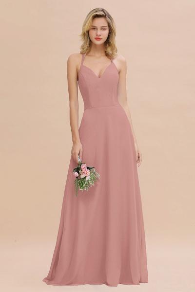 BM0779 Stylish Chiffon Spaghetti Straps Sleeveless Long Bridesmaid Dress_50