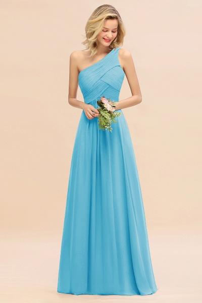 BM0756 Elegant Ruffles One Shoulder Long Bridesmaid Dress_24