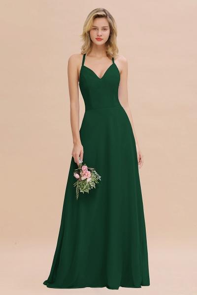 BM0779 Stylish Chiffon Spaghetti Straps Sleeveless Long Bridesmaid Dress_31