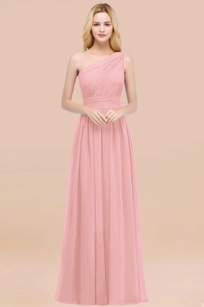 Elegant A-Line Chiffon One-Shoulder Sleeveless Ruffles Floor-Length Bridesmaid Dresses_4