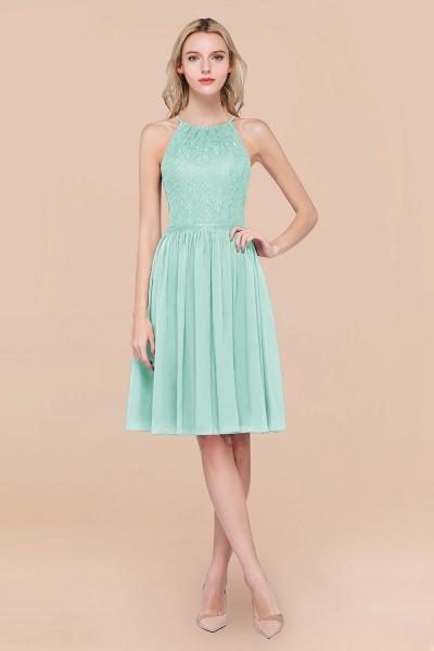 A-line Chiffon Lace Jewel Sleeveless Knee-Length Bridesmaid Dresses with Ruffles_36