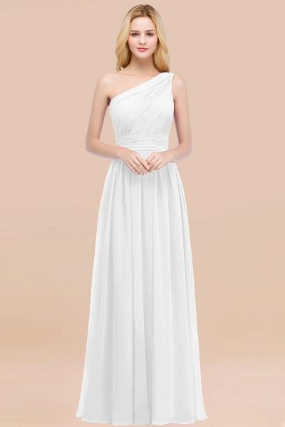 Elegant A-Line Chiffon One-Shoulder Sleeveless Ruffles Floor-Length Bridesmaid Dresses_1