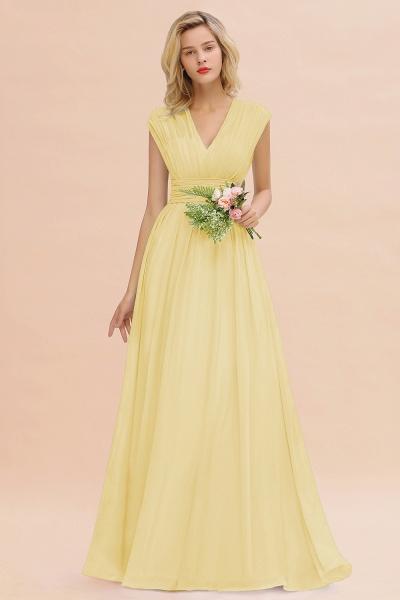 BM0774 Chiffon V-Neck Sleeveless Elegant A-line Ruffles Bridesmaid Dress_18