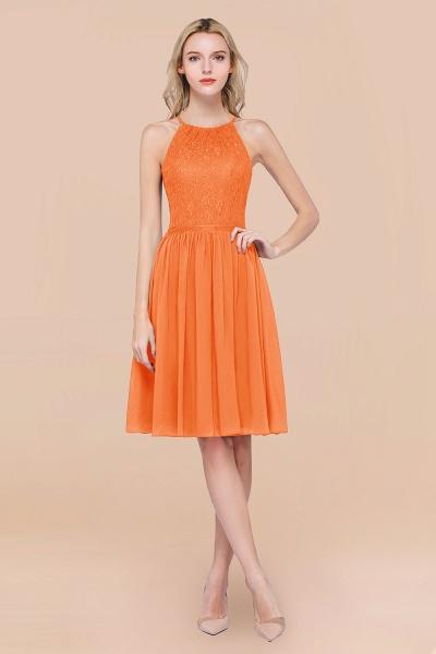 A-line Chiffon Lace Jewel Sleeveless Knee-Length Bridesmaid Dresses with Ruffles_15