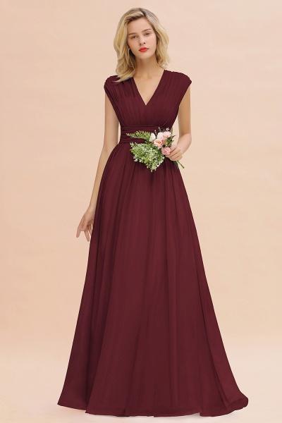 BM0774 Chiffon V-Neck Sleeveless Elegant A-line Ruffles Bridesmaid Dress_10