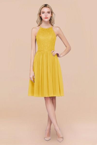 A-line Chiffon Lace Jewel Sleeveless Knee-Length Bridesmaid Dresses with Ruffles_17