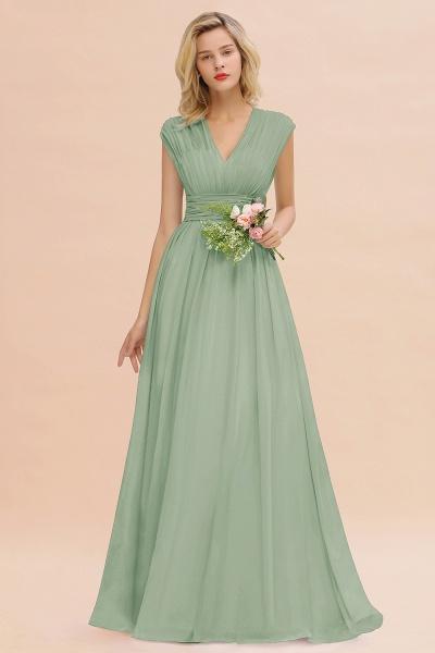 BM0774 Chiffon V-Neck Sleeveless Elegant A-line Ruffles Bridesmaid Dress_41