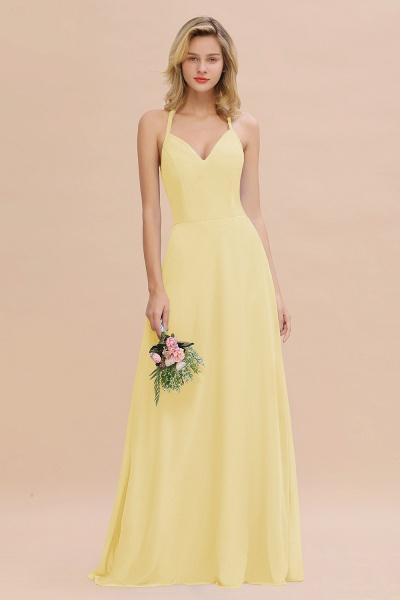 BM0779 Stylish Chiffon Spaghetti Straps Sleeveless Long Bridesmaid Dress_18