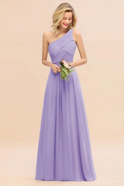 BM0756 Elegant Ruffles One Shoulder Long Bridesmaid Dress_21