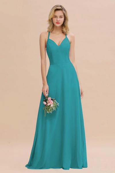 BM0779 Stylish Chiffon Spaghetti Straps Sleeveless Long Bridesmaid Dress_32