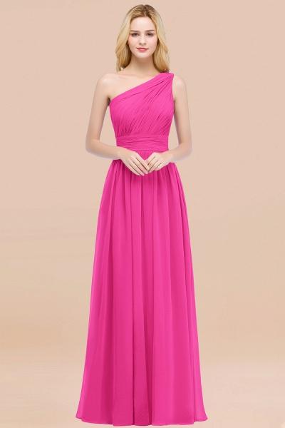 Elegant A-Line Chiffon One-Shoulder Sleeveless Ruffles Floor-Length Bridesmaid Dresses_9
