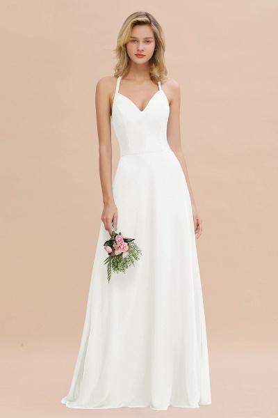 BM0779 Stylish Chiffon Spaghetti Straps Sleeveless Long Bridesmaid Dress_2