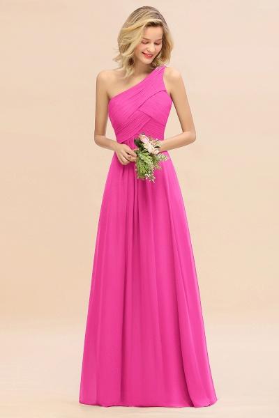 BM0756 Elegant Ruffles One Shoulder Long Bridesmaid Dress_9