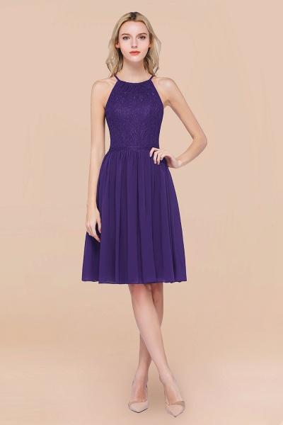 A-line Chiffon Lace Jewel Sleeveless Knee-Length Bridesmaid Dresses with Ruffles_19