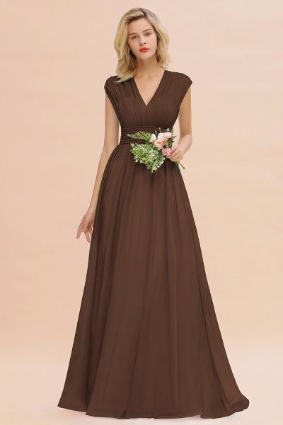 BM0774 Chiffon V-Neck Sleeveless Elegant A-line Ruffles Bridesmaid Dress_12