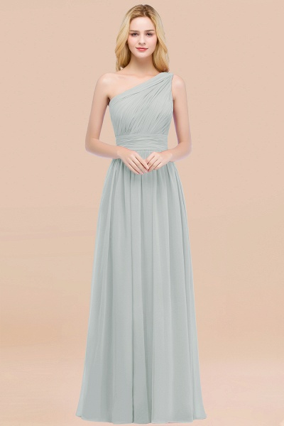 Elegant A-Line Chiffon One-Shoulder Sleeveless Ruffles Floor-Length Bridesmaid Dresses_38