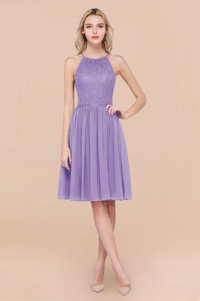 A-line Chiffon Lace Jewel Sleeveless Knee-Length Bridesmaid Dresses with Ruffles_21
