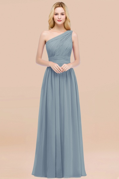 Elegant A-Line Chiffon One-Shoulder Sleeveless Ruffles Floor-Length Bridesmaid Dresses_40